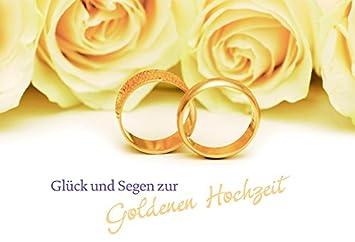 Hochzeitskarte Glück Und Segen Zur Goldenen Hochzeit 6 Stck