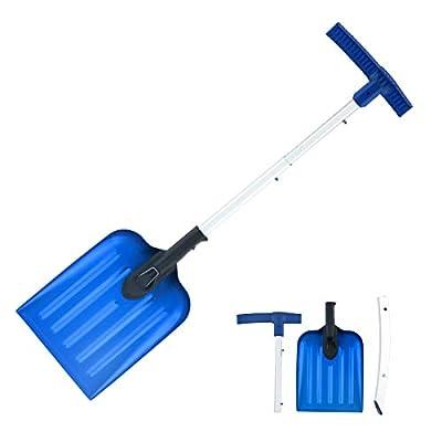 ORIENTOOLS Snow Shovel with 3 Piece Collapsible Design