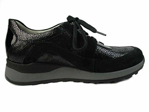 Noir À Ville De Waldläufer Chaussures Pour Femme 364004 Lacets gris 403 954 CwYCvqX