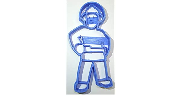 FIREMAN SAM ANIMATED KIDS SERIES TITLE HERO BBC SPECIAL OCCASION FONDANT STAMP CUTTER OR CUPCAKE TOPPER SIZE 1.75