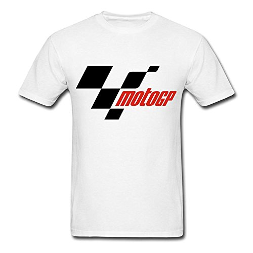 Pusadd Mens Fashion Custom Moto GP Short Sleeve T-Shirts White Tee