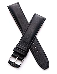 20 mm Classic black calf leather pin buckle strap to fit TAG Heuer Formula 1 watches with 20 mm lug width as listed below