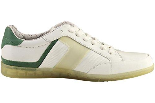 Hugo Boss Mens Fashion Sneakers Eldorado Contrast Lederen Schoenen 50254416 Wit