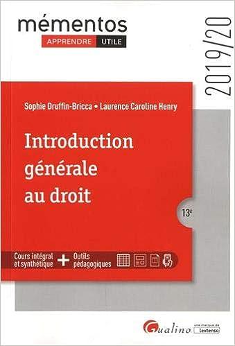Introduction générale au droit 11e édition - Patrick Courbe