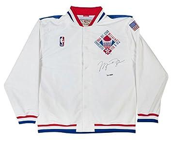 Amazon.com  MICHAEL JORDAN Autographed 1991 NBA All Star Warm Up Jacket UDA  LE 23  Sports Collectibles 753298915