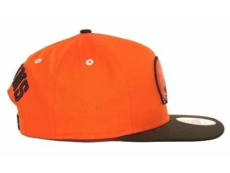 85d2583c64b Amazon.com   New Era NFL 9Fifty Turnover Snapback 2 Tone Cap Cleveland  Browns (Orange Brown