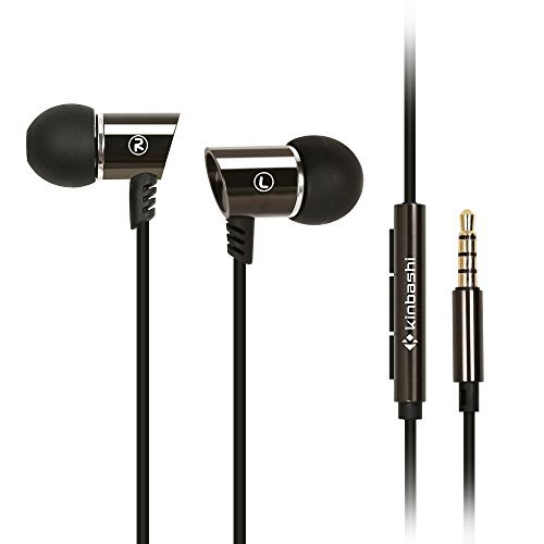 Kinbashi Noise Isolating Earbuds In-Ear Headphones with Microphone and Remote