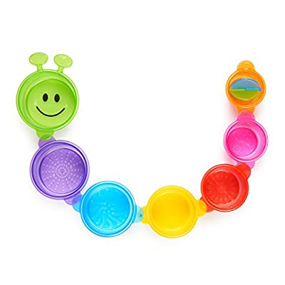 Munchkin Caterpillar Spillers Stacking and Straining Cups Bath Toy: Baby