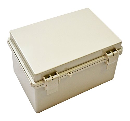 BUD Industries NBF-32020 Plastic ABS NEMA Economy Box with Solid Door, 11-51/64'' Length x 7-55/64'' Width x 7-55/64'' Height, Light Gray Finish by BUD Industries