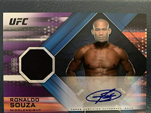 Ronaldo Souza Signed Topps UFC Knockout Relic Purple for sale  Delivered anywhere in Canada