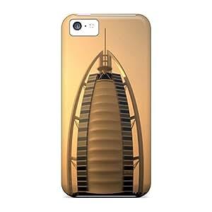 Durable Defender Case For Iphone 5c Tpu Cover(burj Al Arab)