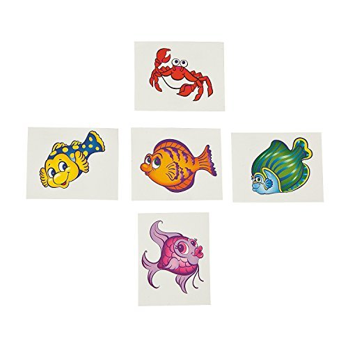 Tropical Fish Tattoos (6 dz) (Oriental Favor Party)