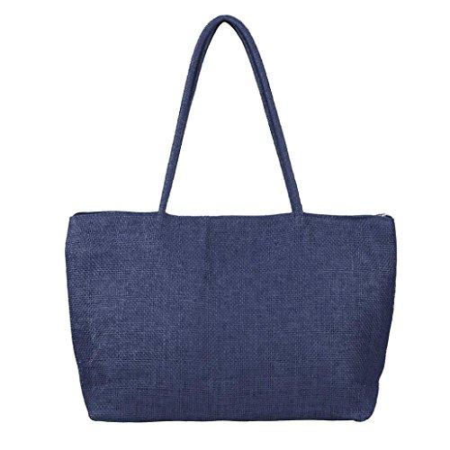 Shoulder Women Navy Beach Handbag Handbag LMMVP Large Bag Casual ZFvvR6