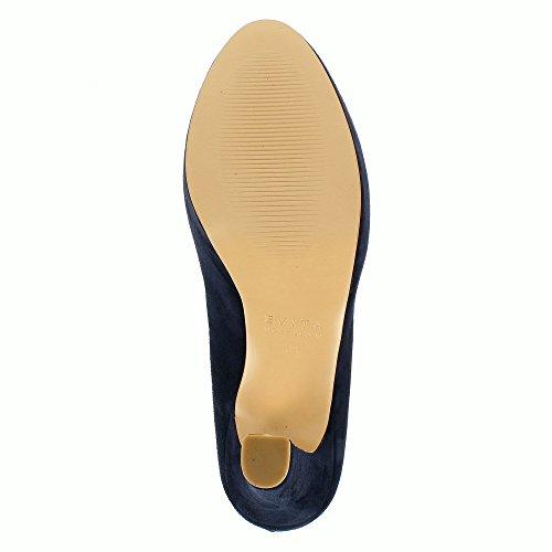 Riccarda Oscuro Mujer Vestir Azul Para Evita Piel Shoes Zapatos De A5awqw7z