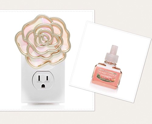 Fruit Summer Freshener Air (Yankee Candle Blush Gold Flower Scent-Plug Diffuser Base with a SUN-DRENCHED APRICOT ROSE Home Fragrance Electric Refill)