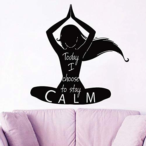hllhpc Yoga Tatuajes de Pared de Vinilo extraíble Loto Yoga ...