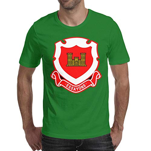 US Army Corps of Engineers Regimental Crest Blend Tee Solid Shirt Men's Clothing Cross Train ()