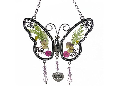 Smart Life Helper Mom Butterfly Mother Suncatcher with Pressed Flower Wings - Butterfly Suncatcher - Mom Gifts Gift for Mother's - Butterfly Suncatcher