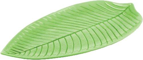 Green Paderno - Aps Paderno World Cuisine Green Melamine Leaf Dish, 17-7/8-Inch by 9-1/2-Inch
