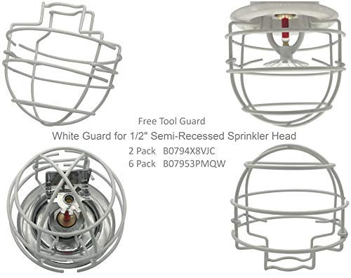 1//2 IPS White Guard Fire Sprinkler Head Cage Double Hook 10 Pack Happy Tree