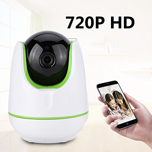 Video Baby Monitor,Fosa 720P HD WiFi Wireless Home Remote Security Camera Night Vision IR-Cut P/T Webcam(White) by fosa (Image #1)