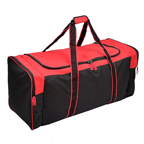 Jetstream 36 Inch 3-Pocket Hockey Equipment Duffle Bag (Red)
