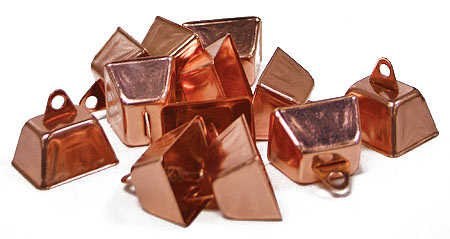 Mini Cowbells - Package of 36 Copper Colored Cowbells for Embellishing ,Crafting and Creating