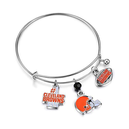 NFL Cleveland Browns Three Charm Logo Bracelet