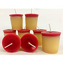 Raspberry Roll Pack of 8 Votive Candles 15 Hour Burn Time.