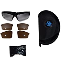 Aviation Flight Training Glasses with Frosted Interchangeable Lenses and Sunglasses