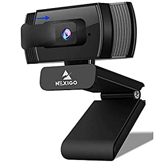 2020 AutoFocus 1080p Streaming Webcam with Stereo Microphone and Privacy Cover, NexiGo FHD USB Web Camera, for Online Class, Zoom Meeting Skype Facetime Teams, PC Mac Laptop Desktop