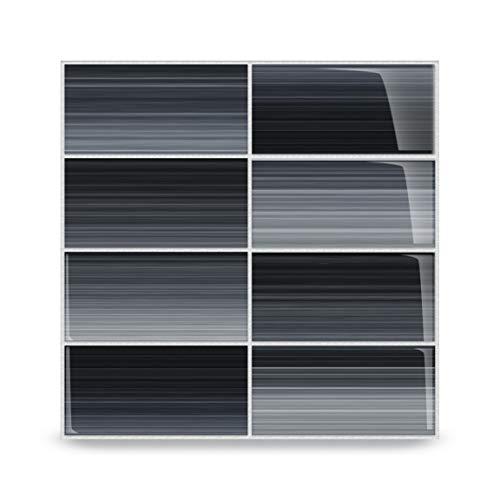 (Bodesi Late Night Glass Subway Tile for Kitchen Backsplash or Bathroom, Color Sample)