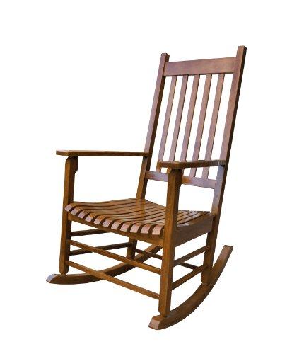 Porch Rocker Chair - Shine Company Vermont Porch Rocker, Oak
