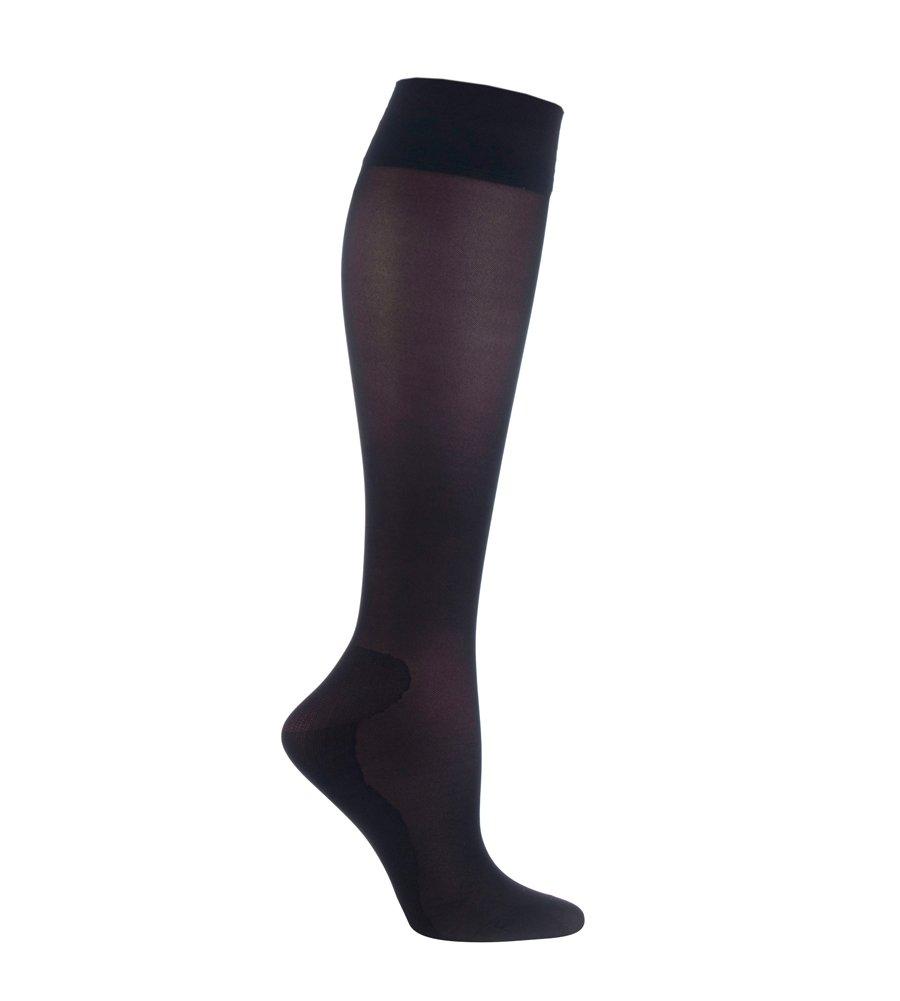 IOMI - Airplane Travel Graduated Compression Medical DVT Flight Socks for Women (5-8 US, Black)