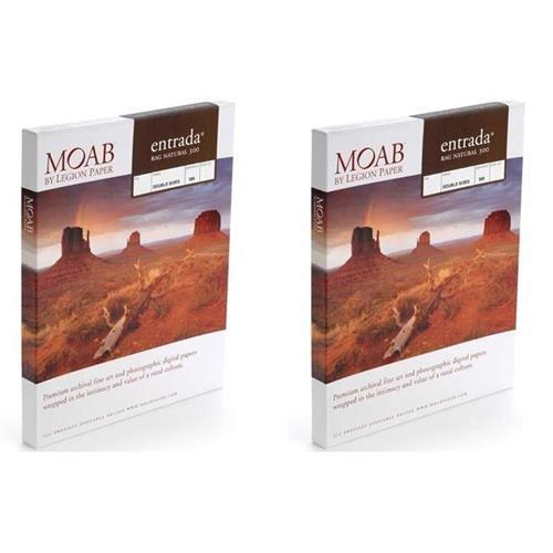 - Moab 2 Pack Entrada Rag Fine Art, 2-Side Natural Matte Inkjet Paper, 22.5 mil, 300gsm, 5x7