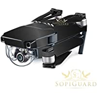 SopiGuard Brushed Black Precision Edge-to-Edge Coverage Vinyl Skin Controller Battery Wrap for DJI Mavic Pro