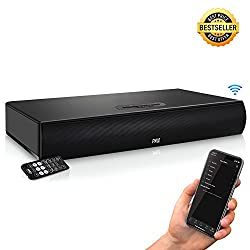 Pyle TV Soundbar Soundbase Bluetooth - Upgraded 2018 Wireless Surround Sound System for TV's With Built-in Subwoofer, Remote Control, AUX RCA Optical Digital Inputs for TV PC - PSBV600BT