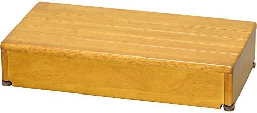 玄関 踏み台 木製 ステップ 1段タイプ 幅60×踏面30×高さ12cm / ライトブラウン