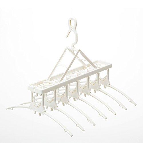 7 Hook Drying Racks, Polypropylene Folded Adult Hangers, Tel