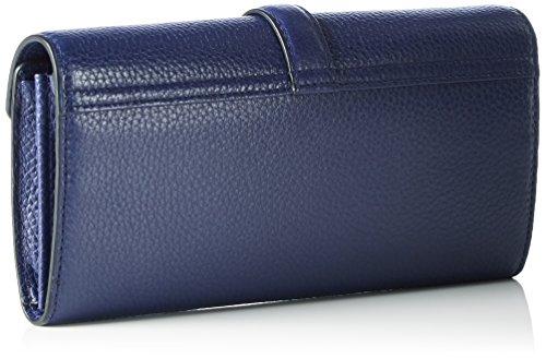 Ecco Isan Clutch Wallet, Pochette Femme, Bleu (Deep Cobalt), 2.5x11x21 cm