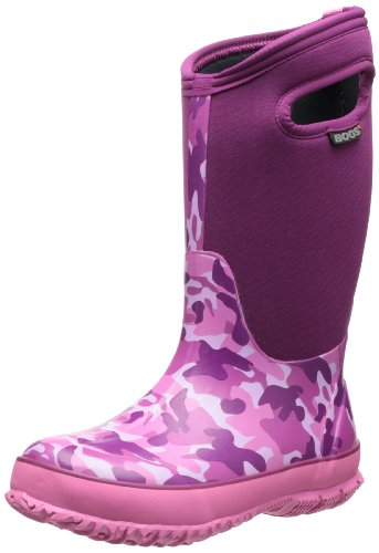 Bogs Kids Classic Camo Waterproof Insulated Boot ,Pink Camo,