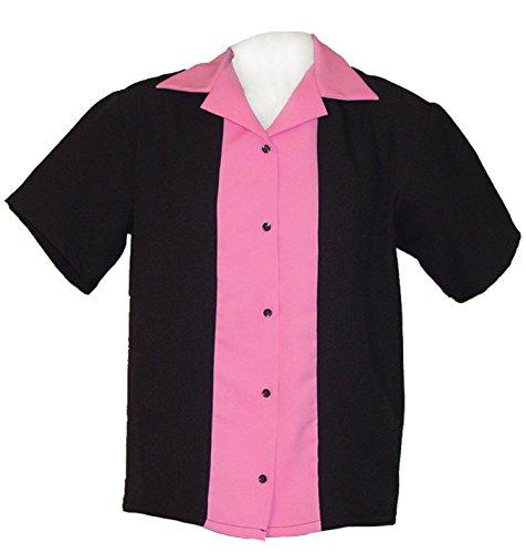 Ladies Retro Bowling Shirt ~ Classic 57 Womens Bowling Shirts (X L) (Classic Bowling Shirt)