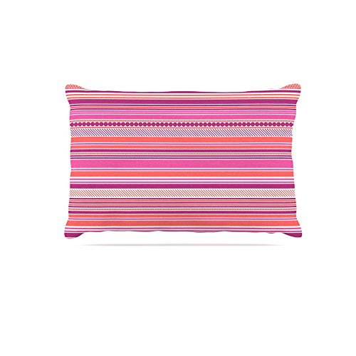 30 by 40\ Kess InHouse Nandita Singh Pink Ribbons  bluesh Purple Fleece Dog Bed, 30 by 40