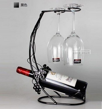 Estante Vino Vidrio Estanteria Para Envases Vidrio Estante Decoración Madera cepillado Plata Uvas
