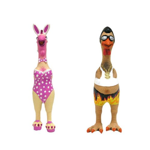 Charming Pet Products Playchick Henrietta Chicken Latex Dog Toy, My Pet Supplies