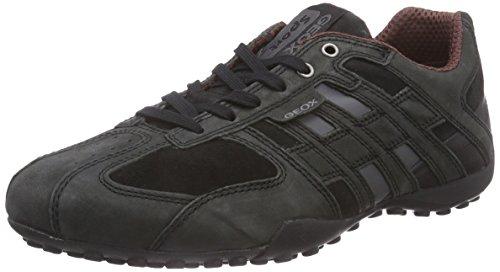 Geox UOMO SNAKE K - Zapatillas Hombre Schwarz (BLACK/GREYC0017)
