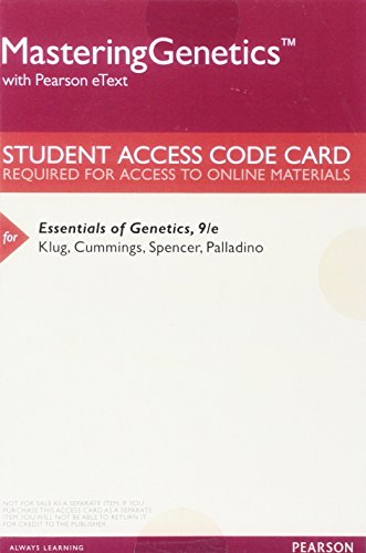 Download Masteringgenetics With Pearson Etext Valuepack Access