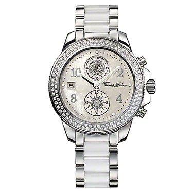 Thomas Sabo - Reloj de pulsera mujer, acero inoxidable, color blanco: Amazon.es: Relojes