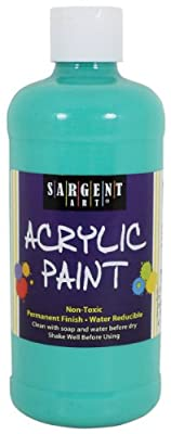 Sargent Art 24-2456 16-Ounce Acrylic Paint, Marine Green
