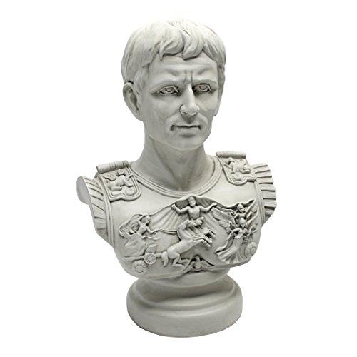 Design Toscano Augustus Caesar Primaporta Bust Statue, 18 Inch, Antique - Apollo Sculpture Wall